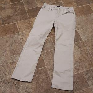NYDJ women's size 6 khaki straight leg jeans